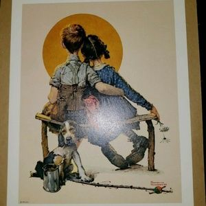 Norman Rockwell Litho Prints, Puppy Love, 8x10